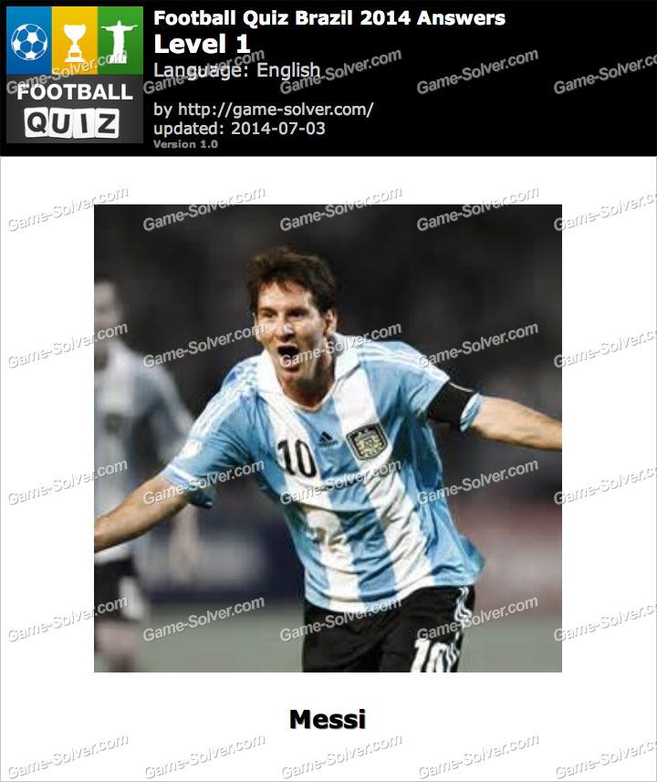 Football Quiz Brazil 2014 Level 1