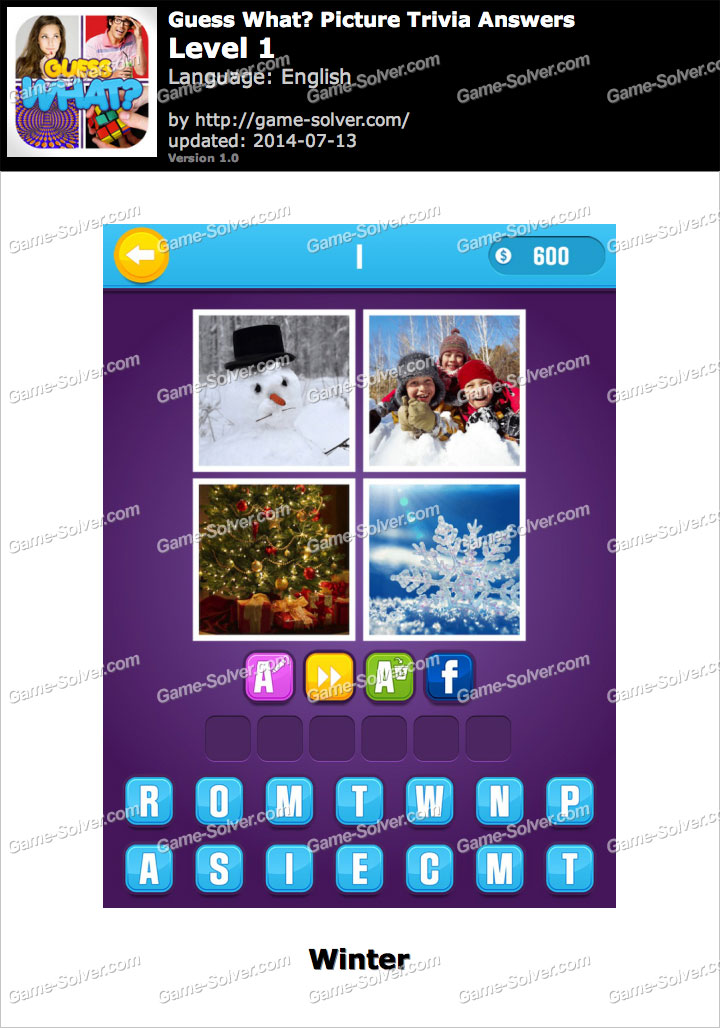 Guess What Picture Trivia Level 1