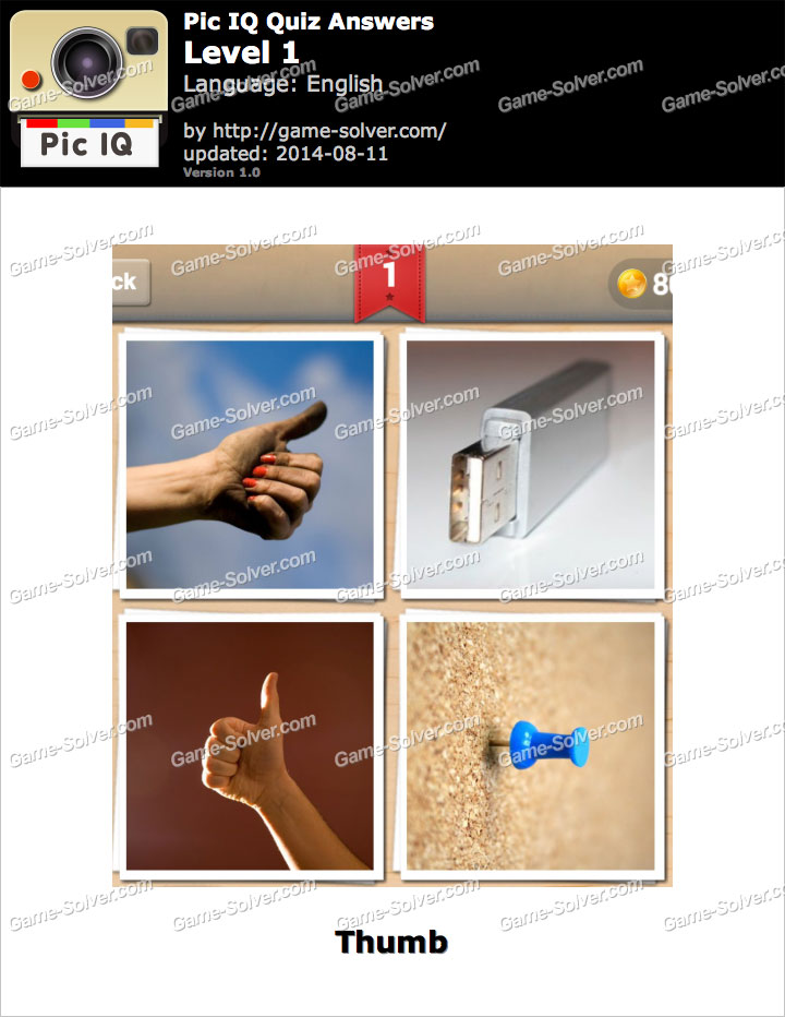 Pic IQ Quiz Level 1