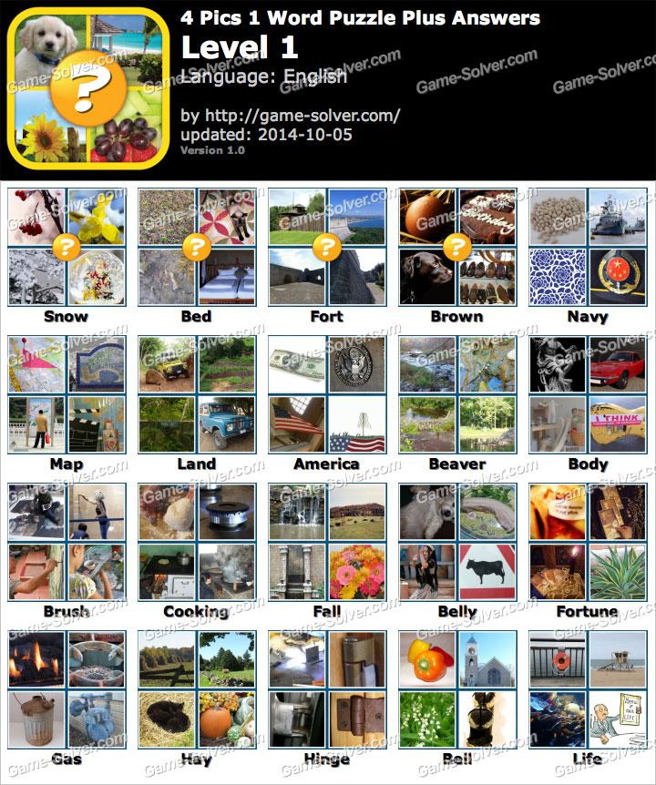 4 Pics 1 Word Puzzle Plus Level 1