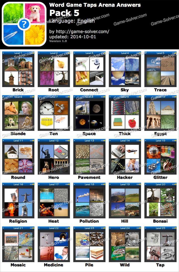 Word Game Taps Arena Pack 5