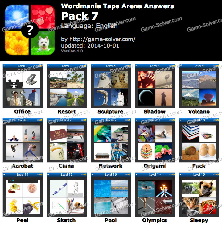 Wordmania Taps Arena Pack 3