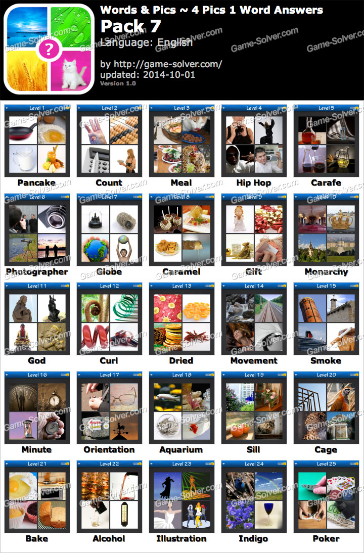 Words & Pics 4 Pics 1 Word Pack 7