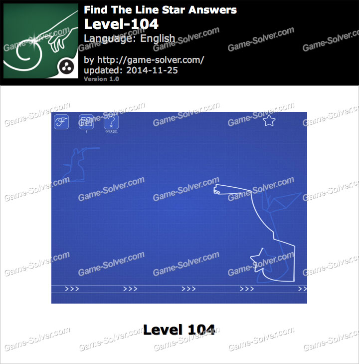Find The Line Star Level 104