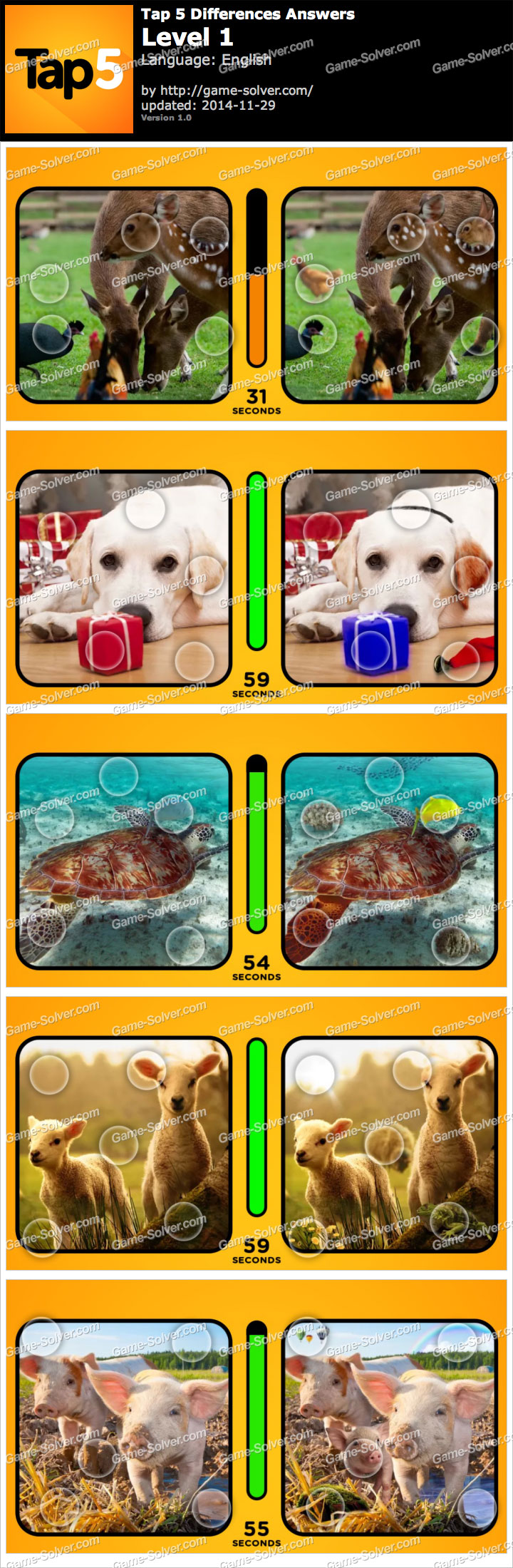 Tap 5 Differences Level 1