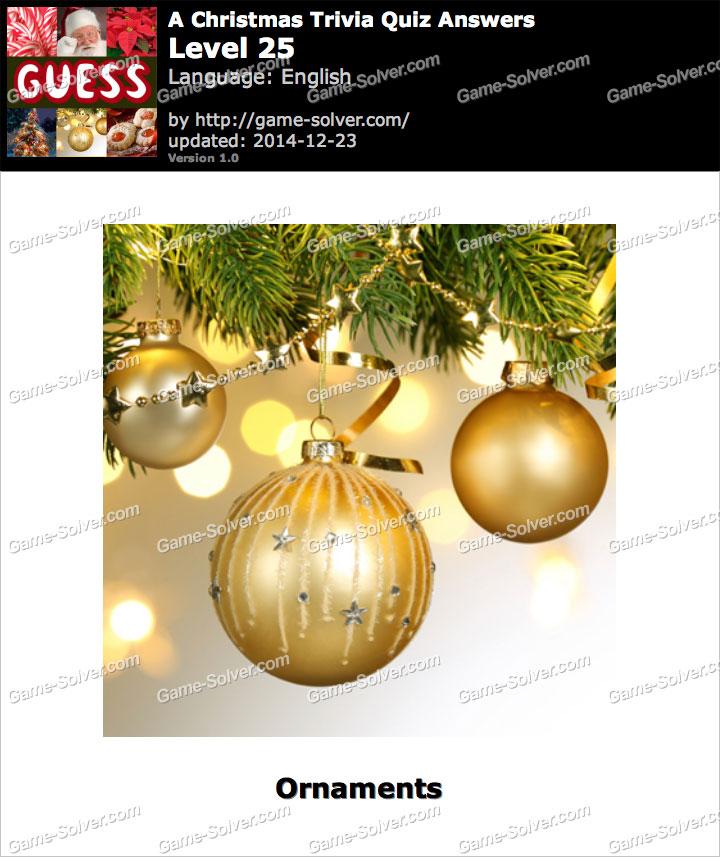 A Christmas Trivia Quiz Level 25
