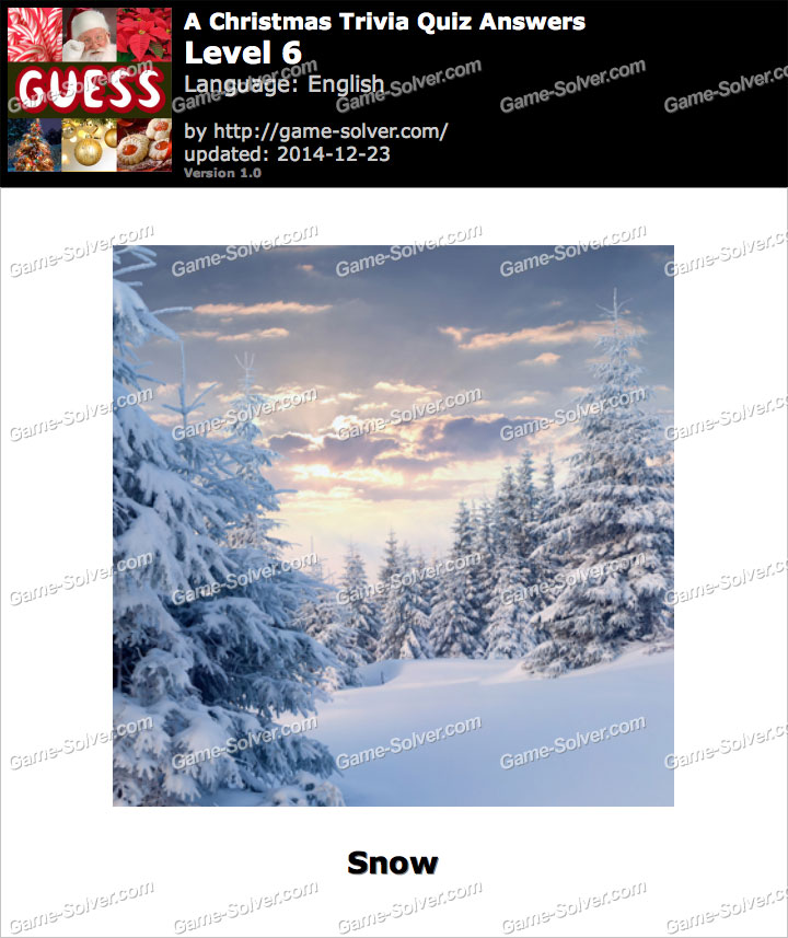 A Christmas Trivia Quiz Level 6