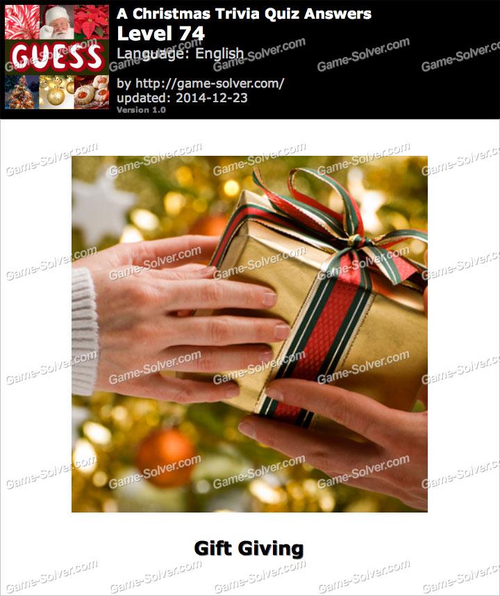 A Christmas Trivia Quiz Level 74