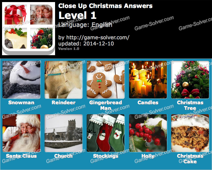 Close Up Christmas Level 1