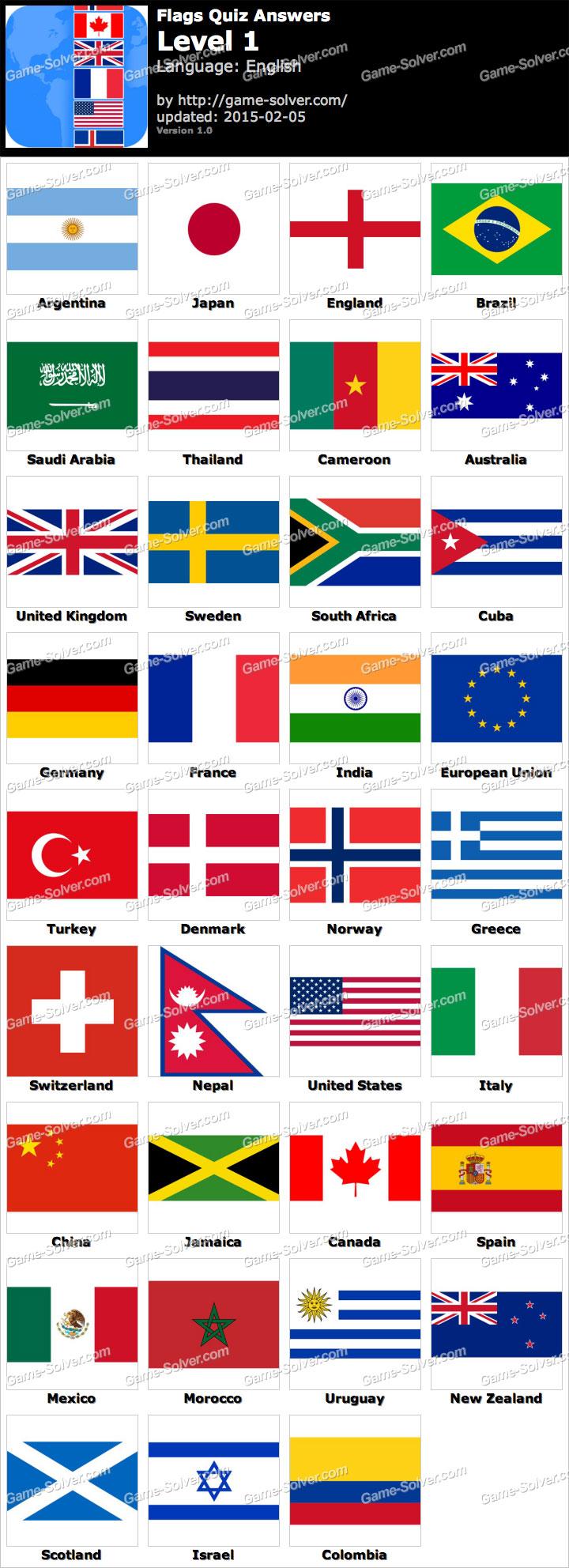 Flags Quiz Level 1