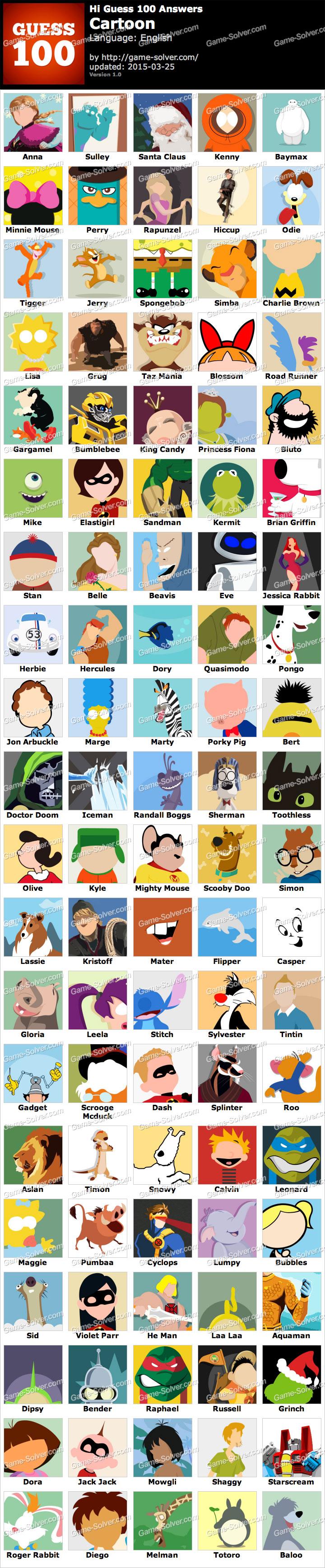 Hi Guess 100 Cartoon