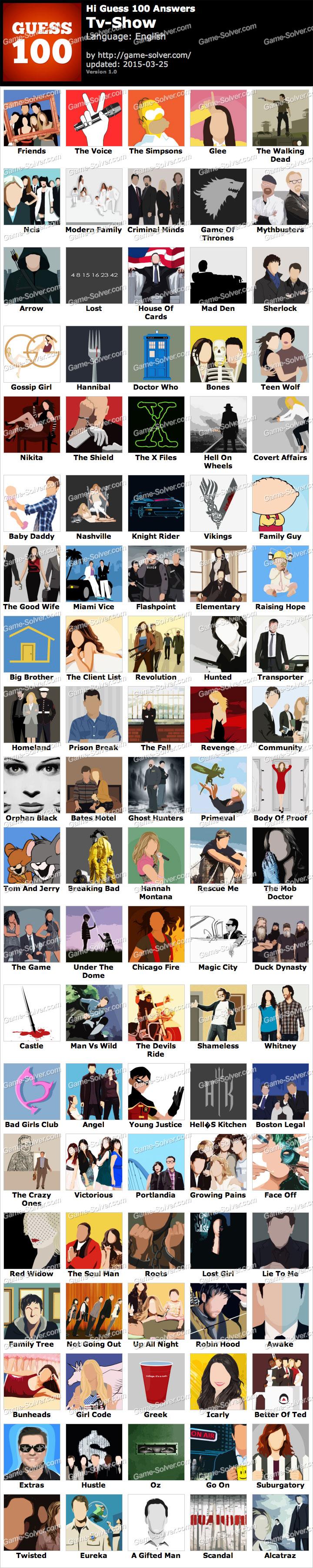 Hi Guess 100 Tv Show