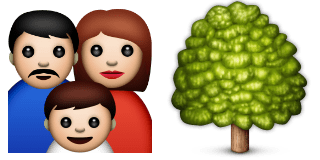 Guess Up Emoji Family Tree