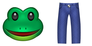 Guess Up Emoji Frog Legs