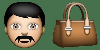 Guess Up Emoji Man Purse