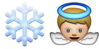 Guess Up Emoji Snow Angel