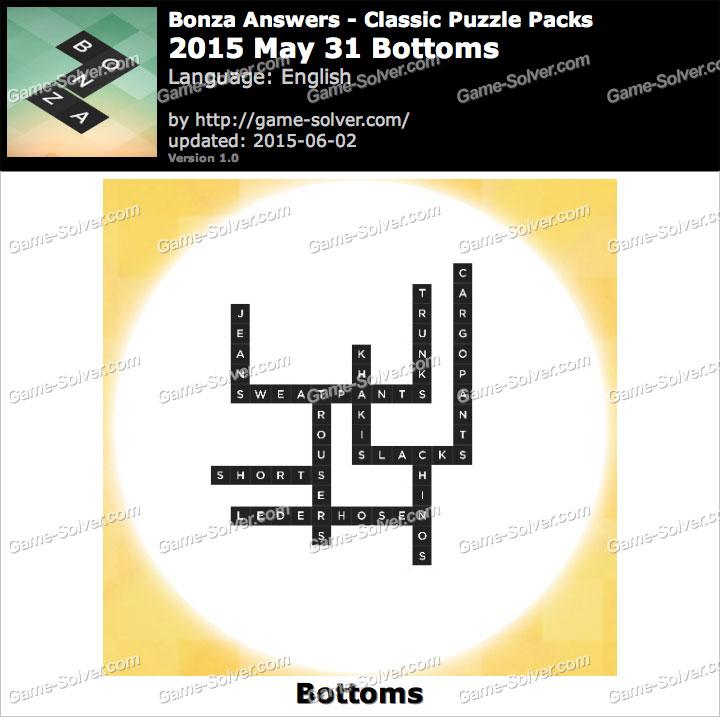 Bonza 2015 May 31 Bottoms