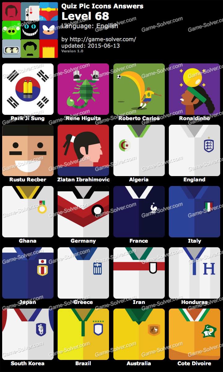 Quiz Pic Icons Level 68