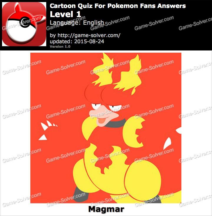 Cartoon Quiz For Pokemon Fans Level 1