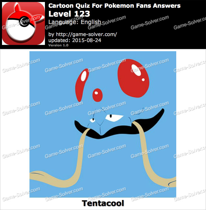 Cartoon Quiz For Pokemon Fans Level 123