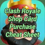 Clash Royale Shop Card Purchase Cheat Sheet