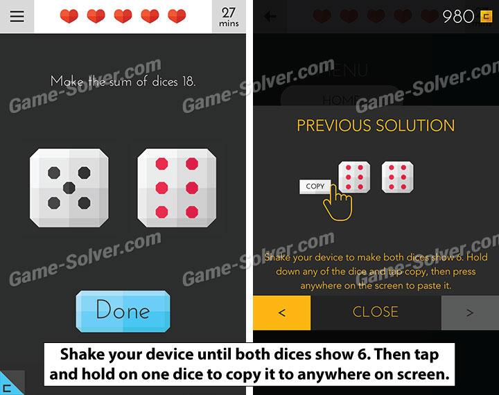 Tricky Test 2 Genius Brain Level 107 - Game Solver