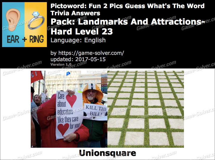 Pictoword Fun 2 Pics Landmarks And Attractions-Hard Level 23 Answers
