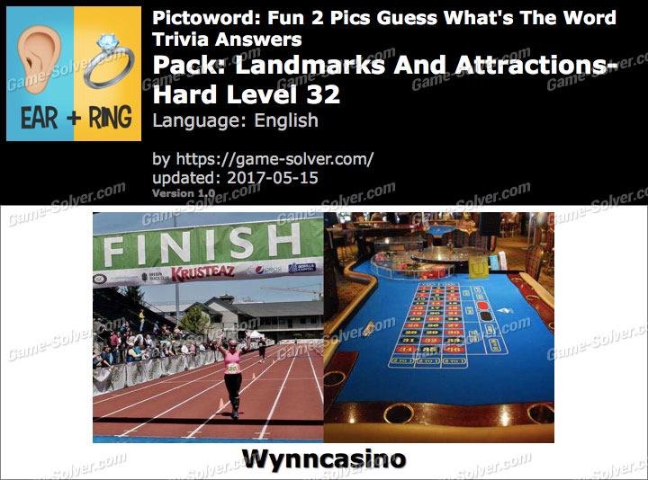 Pictoword Fun 2 Pics Landmarks And Attractions-Hard Level 32 Answers