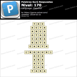 Palabras Gurú Nivel 170 Respuestas