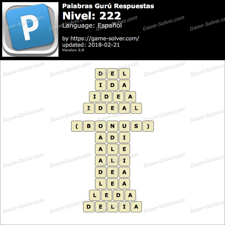 Palabras Gurú Nivel 222 Respuestas
