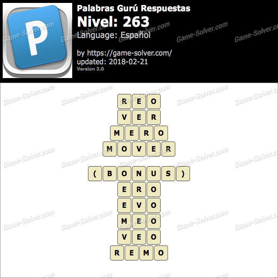 Palabras Gurú Nivel 263 Respuestas