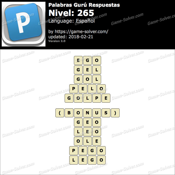 Palabras Gurú Nivel 265 Respuestas