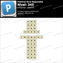 Palabras Gurú Nivel 345 Respuestas