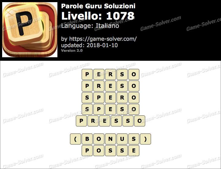 Parole Guru Livello 1078 Soluzioni
