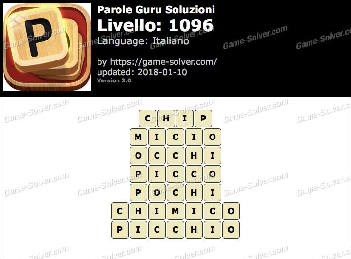 Parole Guru Livello 1096 Soluzioni