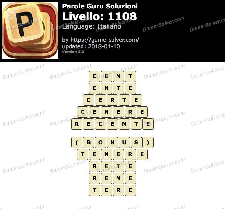 Parole Guru Livello 1108 Soluzioni