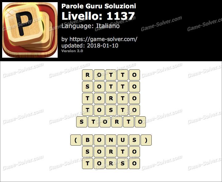 Parole Guru Livello 1137 Soluzioni