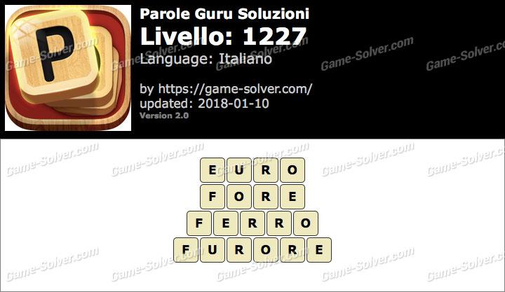 Parole Guru Livello 1227 Soluzioni