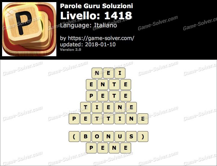 Parole Guru Livello 1418 Soluzioni
