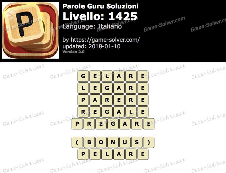 Parole Guru Livello 1425 Soluzioni