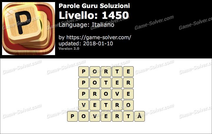Parole Guru Livello 1450 Soluzioni