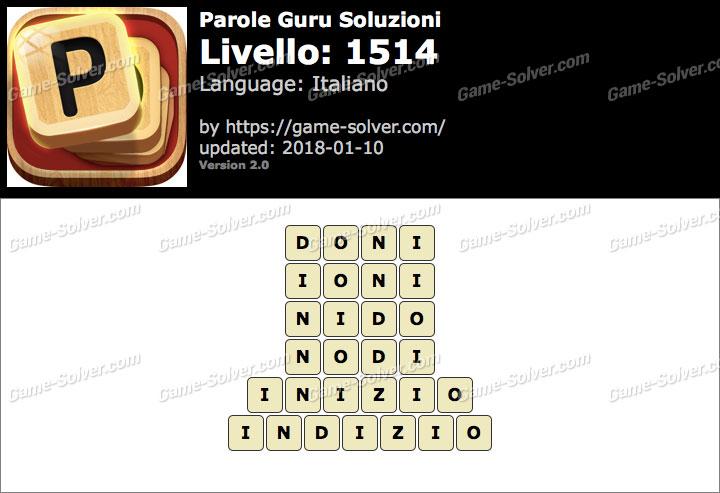 Parole Guru Livello 1514 Soluzioni