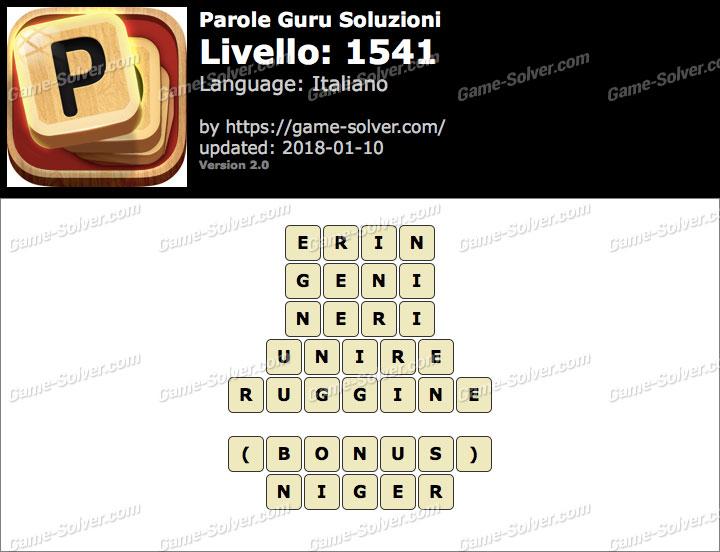 Parole Guru Livello 1541 Soluzioni