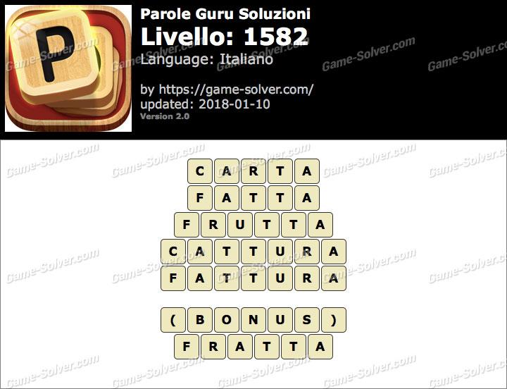 Parole Guru Livello 1582 Soluzioni