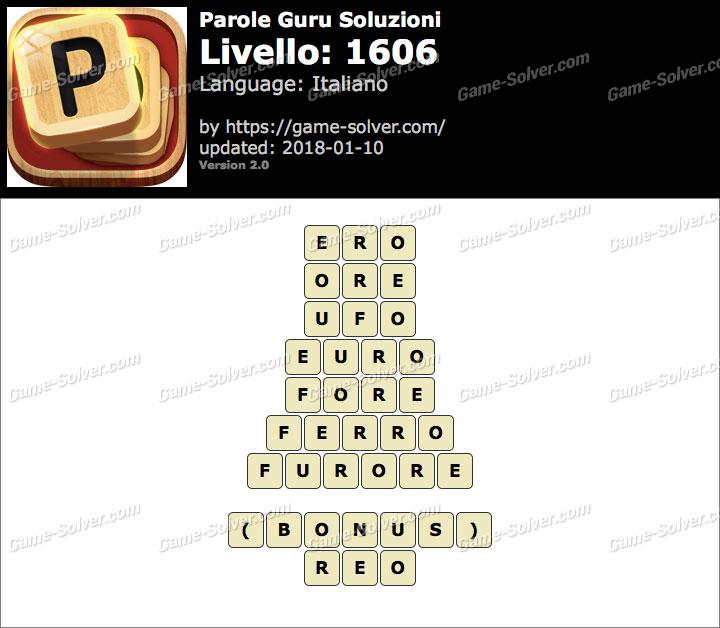 Parole Guru Livello 1606 Soluzioni