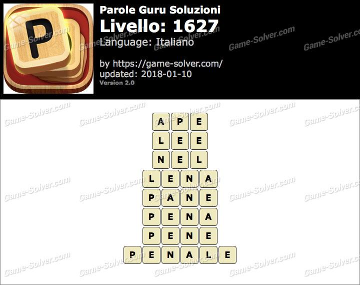 Parole Guru Livello 1627 Soluzioni