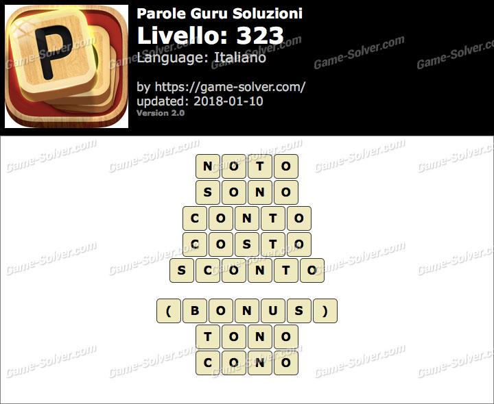 Parole Guru Livello 323 Soluzioni