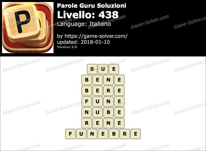 Parole Guru Livello 438 Soluzioni