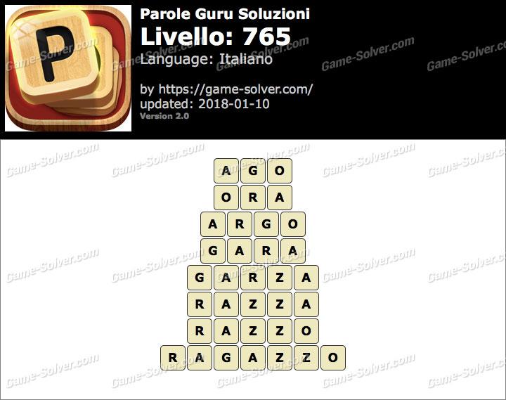 Parole Guru Livello 765 Soluzioni