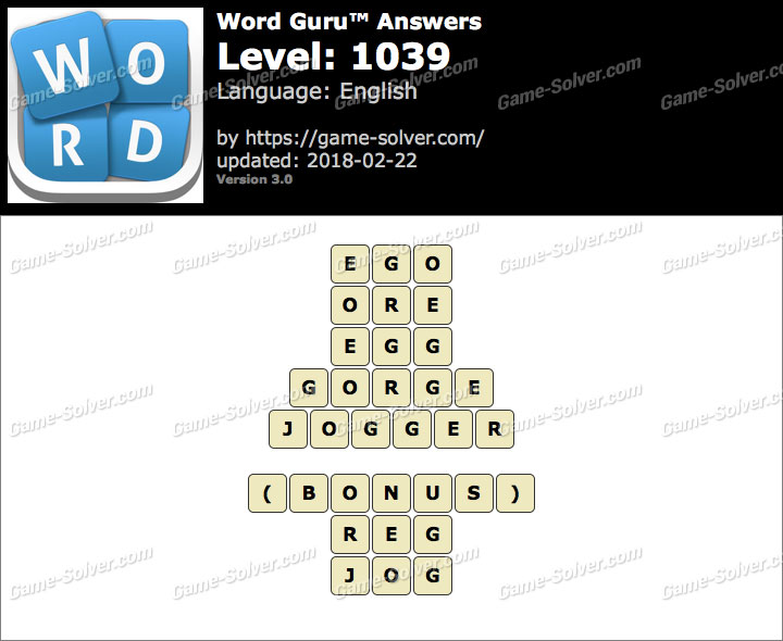 Word Guru Level 1039 Answers